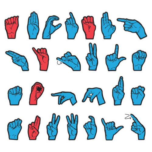 WonderFoam® Magnetic Sign Language Letters