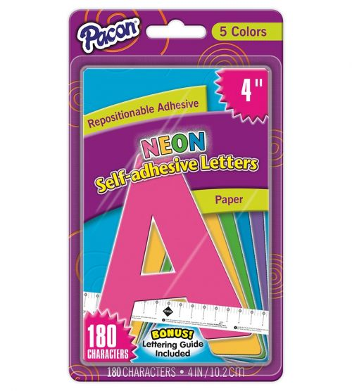 Pacon® Self-Adhesive Paper Letters