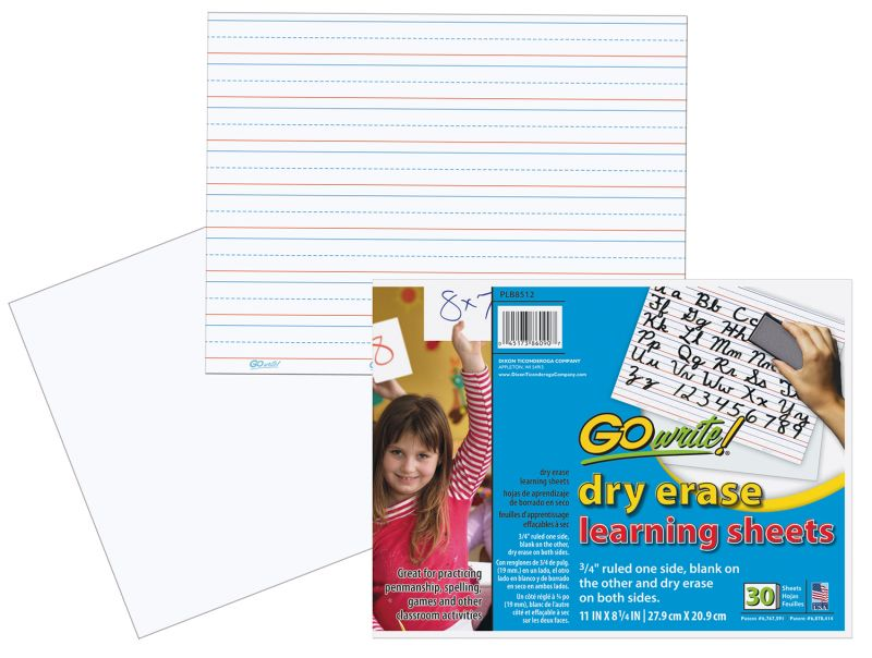 GoWrite!® Dry Erase Learning Sheets