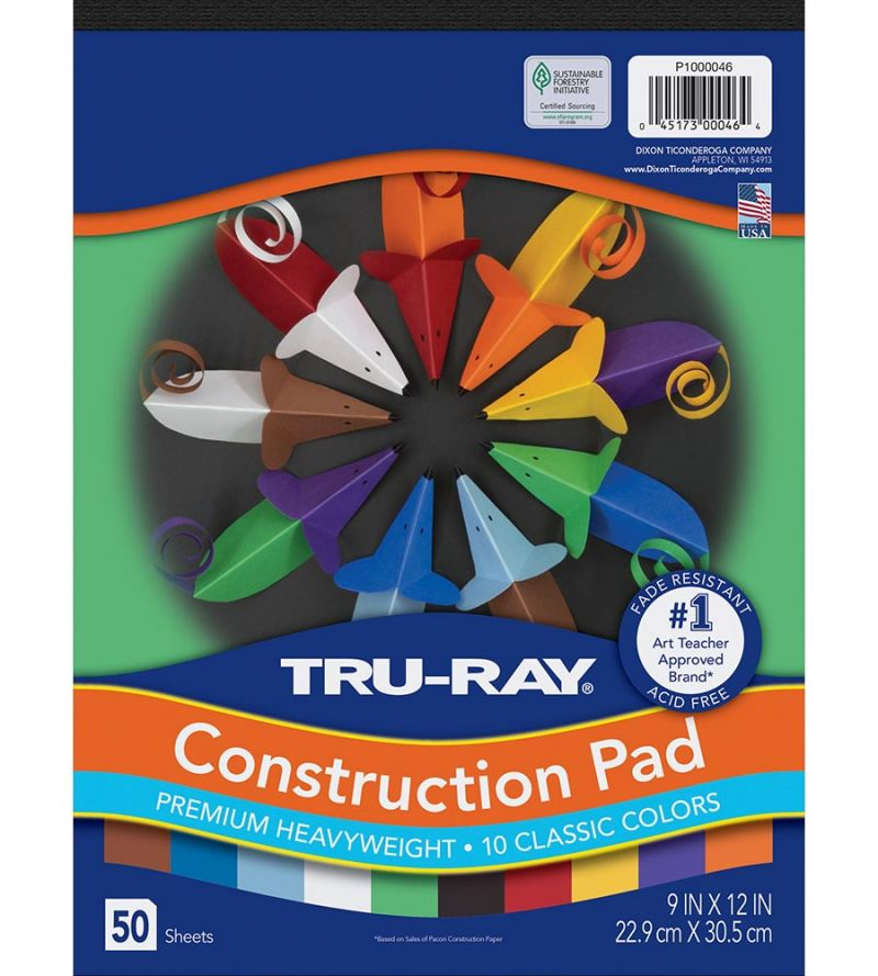 Tru-Ray® Construction Paper Pad