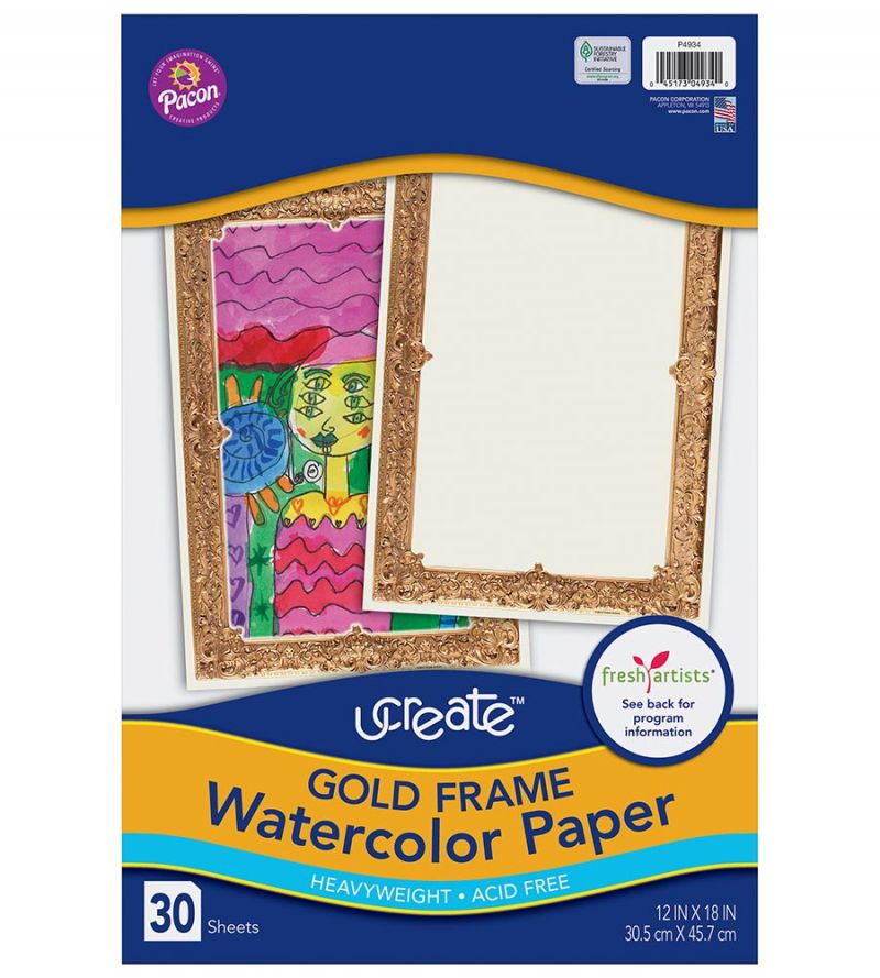 UCreate® Gold Frame Watercolor Paper
