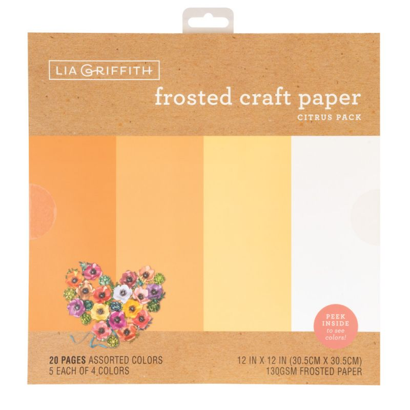 Lia Griffith™ Frosted Craft Paper