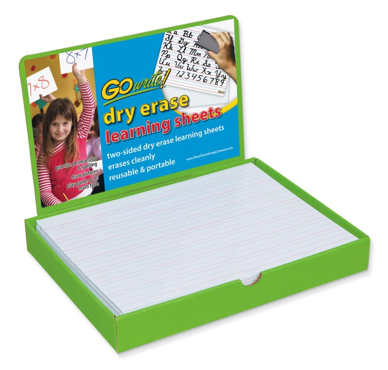 Dry Erase Learning Sheets Display