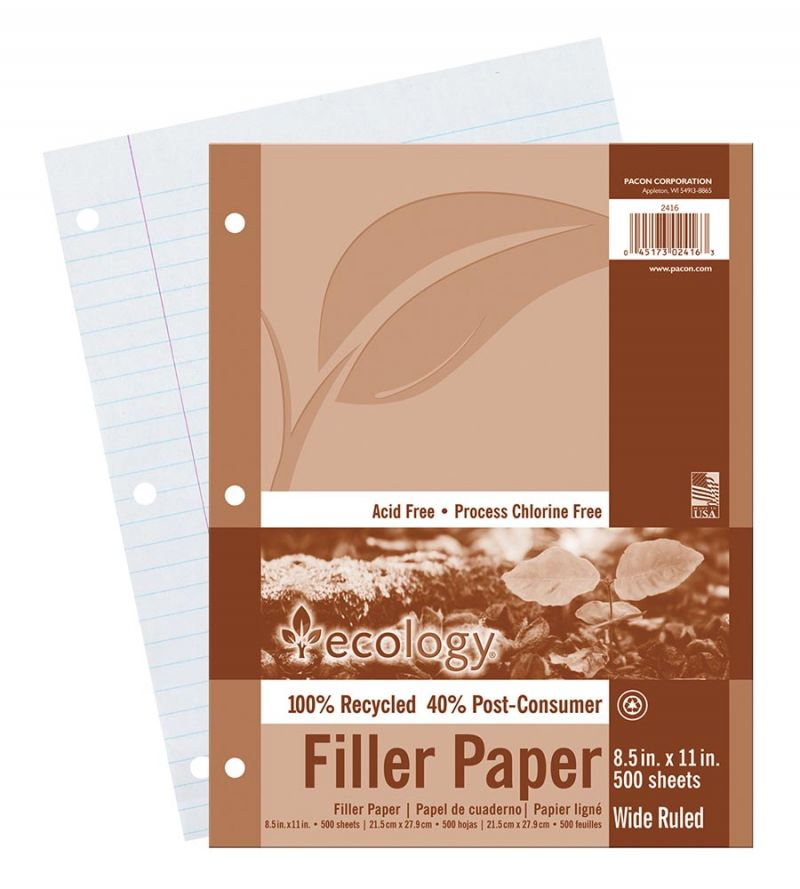 Ecology® Recycled Filler Paper