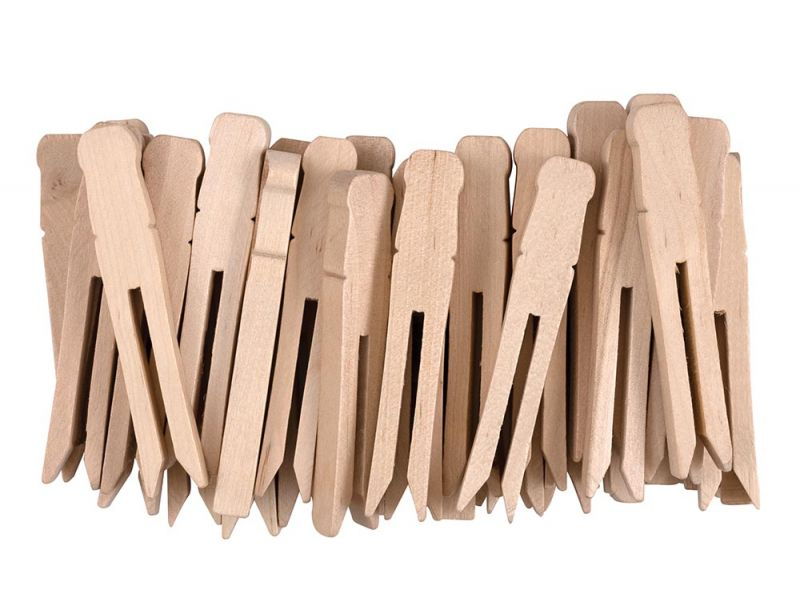 Creativity Street® Natural Flat Slotted Clothespins