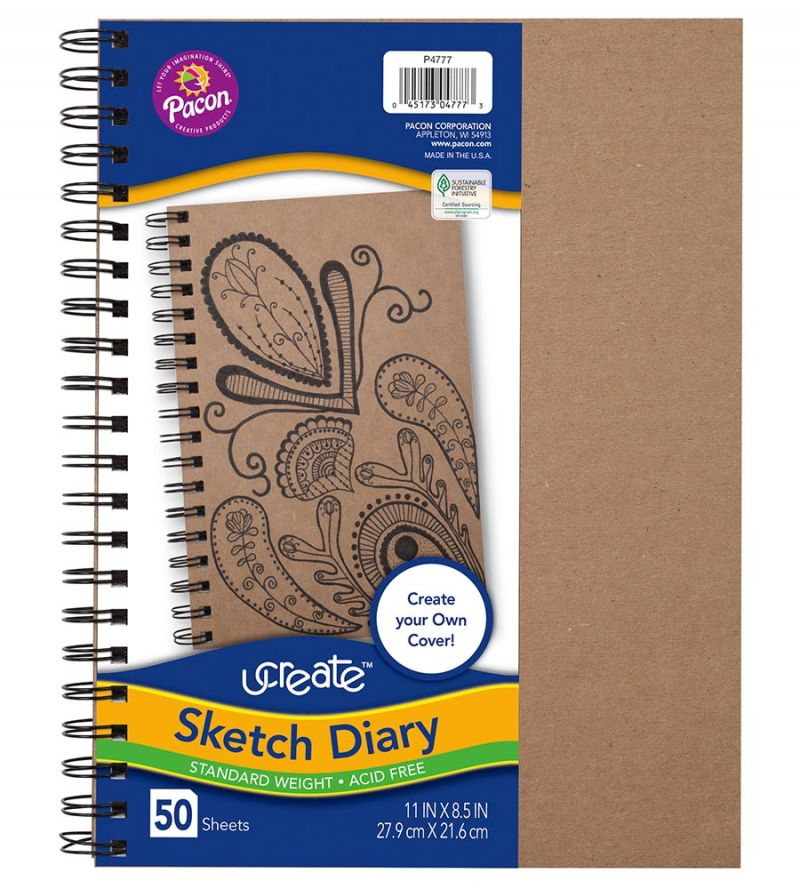 UCreate® Create Your Own Cover Sketch Diary