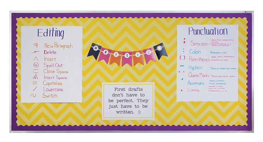 writing editing punctuation classroom bulletin board
