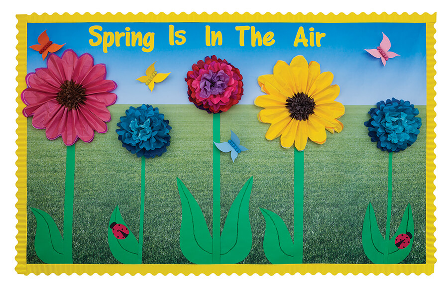 Save Spring Is In The Air Flower Bulletin Board
