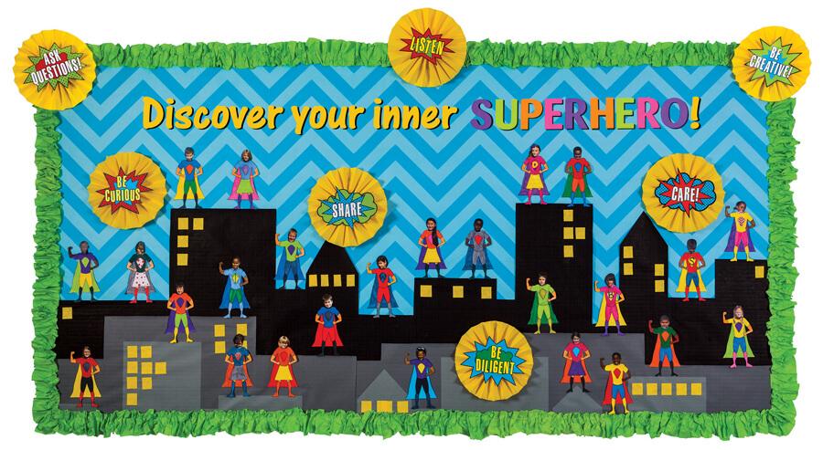 Superhero Bulletin Board Ideas Images Diagram Writing