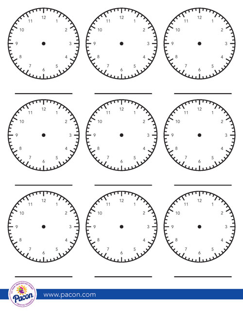 free template clock face