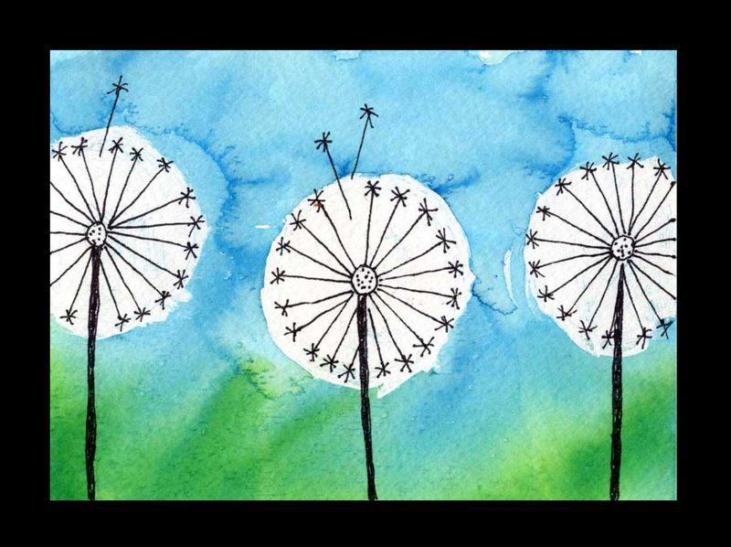 Dandelion Painting - Spring Blooms Projects