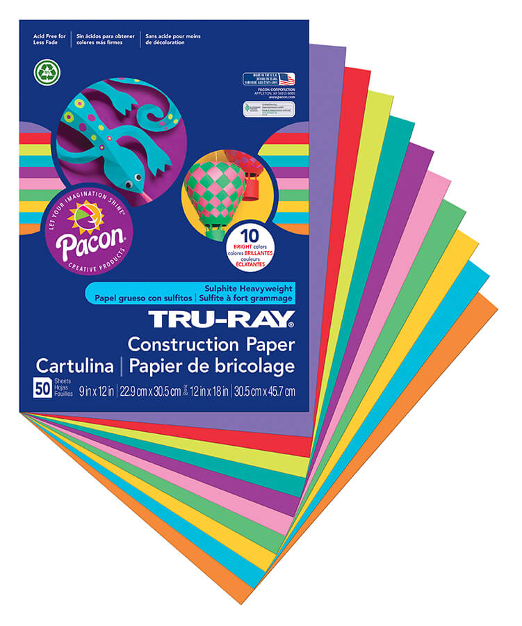 Tru-Ray® Sulphite Construction Paper  View More Products
