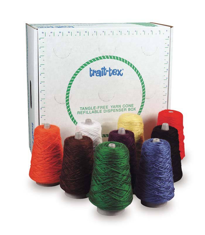 Trait-tex® 4-Ply Double Weight Rug Yarn Dispenser