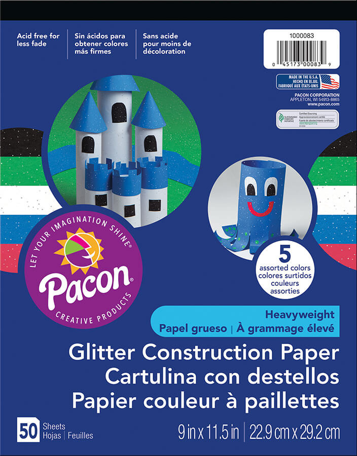 Pacon® Glitter Construction Paper Pad