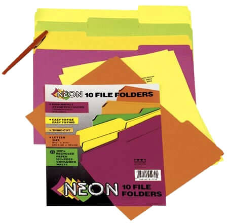 Pacon® Neon File Folders