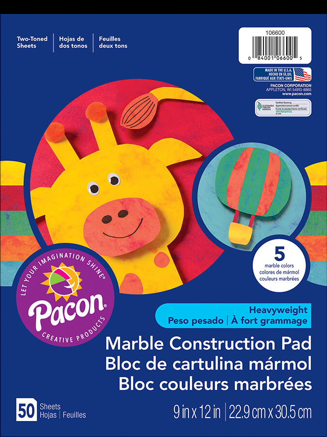 Pacon® Marble Construction Paper Pad