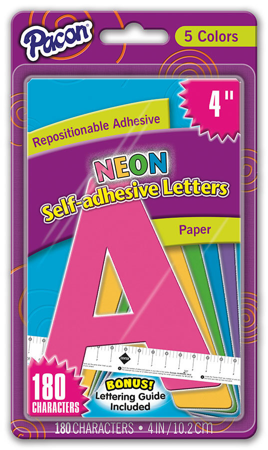 Pacon® Paper Letters, Repositionable Adhesive Strip