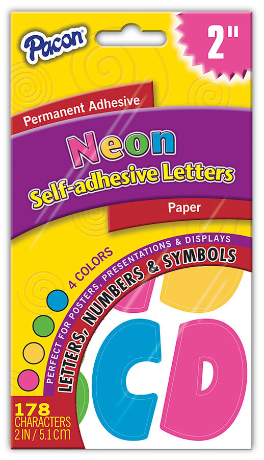 Pacon® Paper Letters, Permanent Adhesive