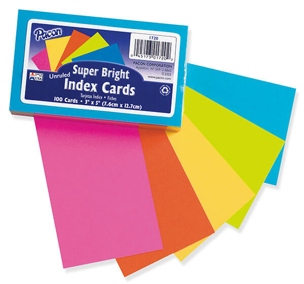 Pacon® Index Cards