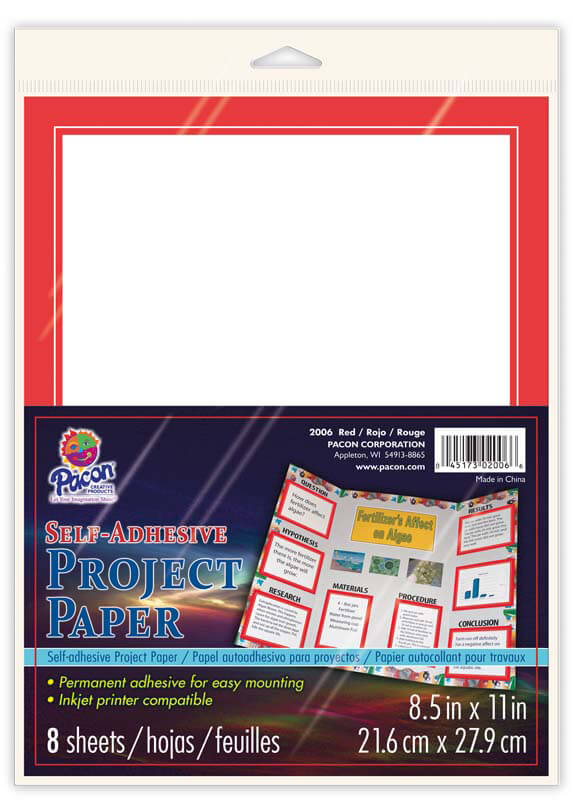 Pacon® Self-Adhesive Project Paper