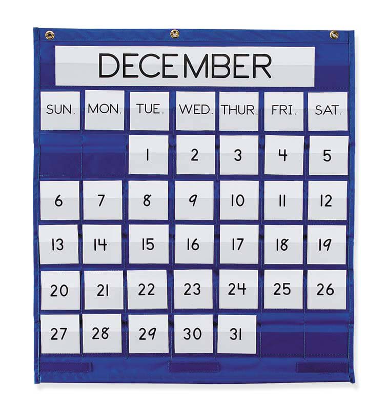 Pacon® Monthly Calendar Pocket Chart