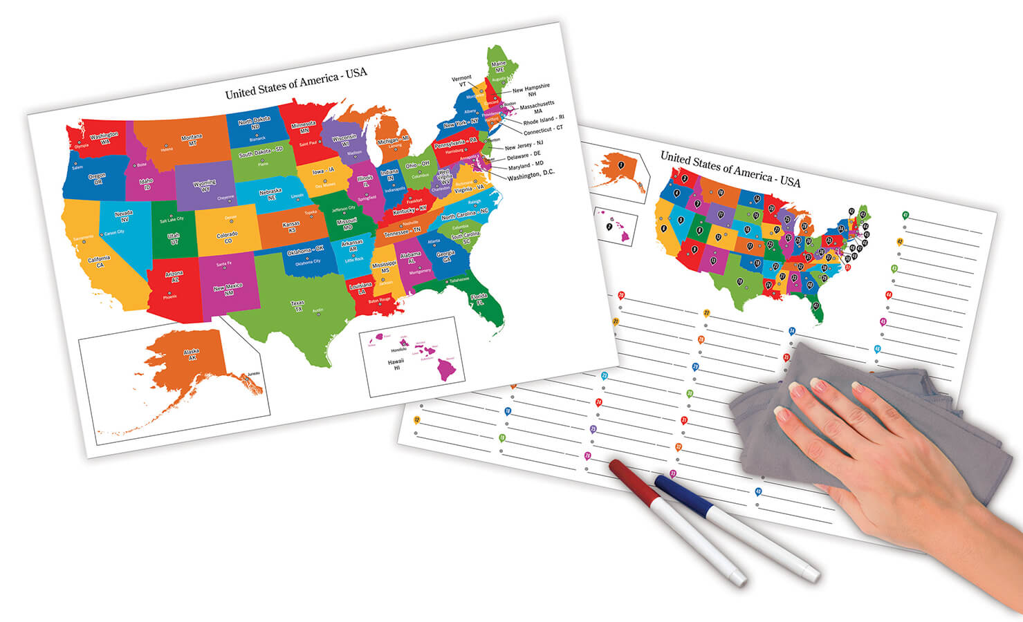 Pacon® Dry Erase Learning Board Maps