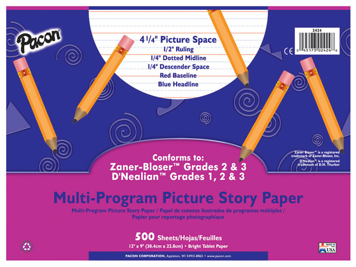 Pacon® Multi-Program Handwriting Picture Story Paper