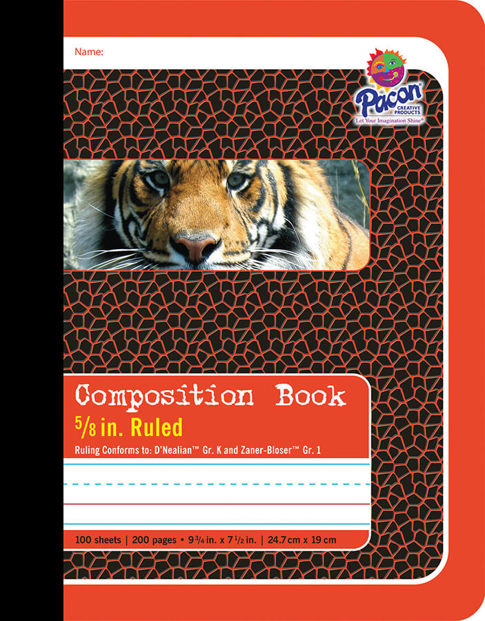 Pacon® Composition Book, Red Tiger