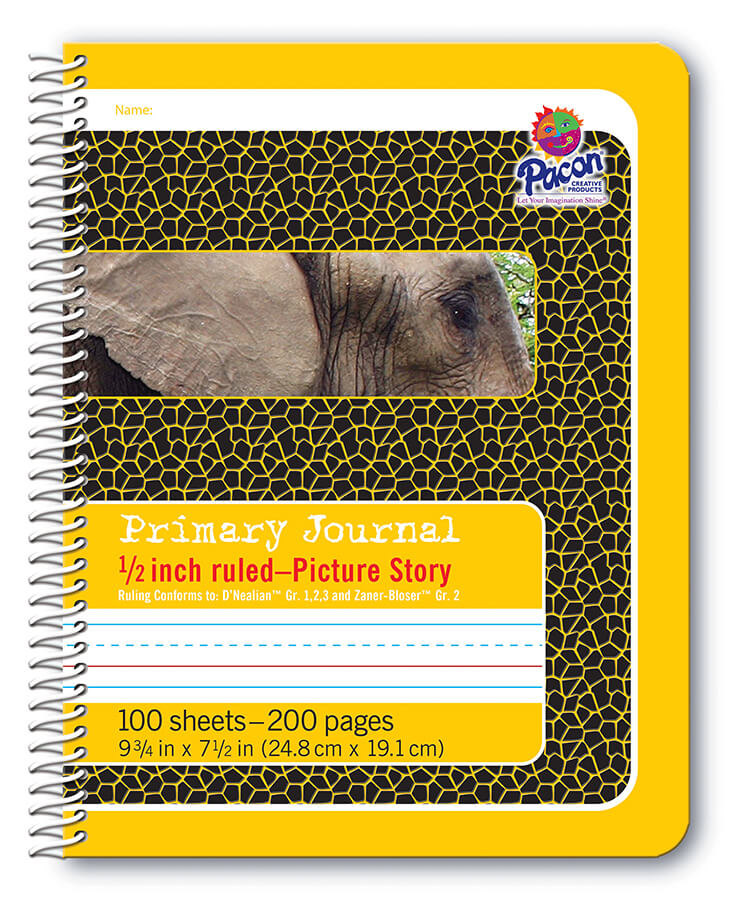 Pacon® Composition Books,  Spiral Bound, Yellow Elephant