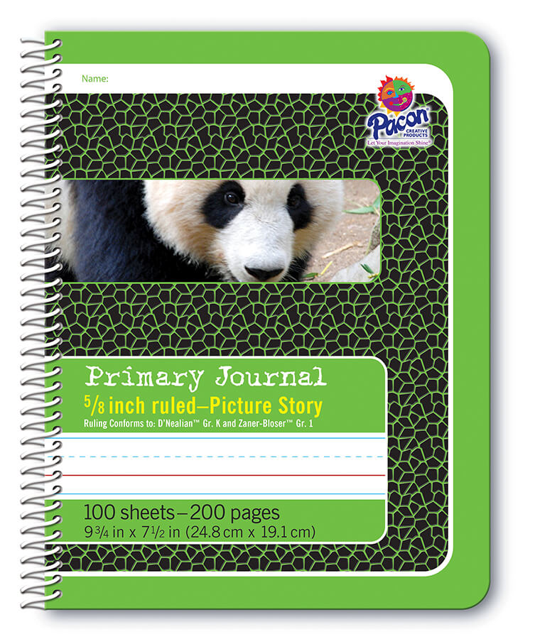 Pacon® Composition Book, Spiral Bound, Green Panda