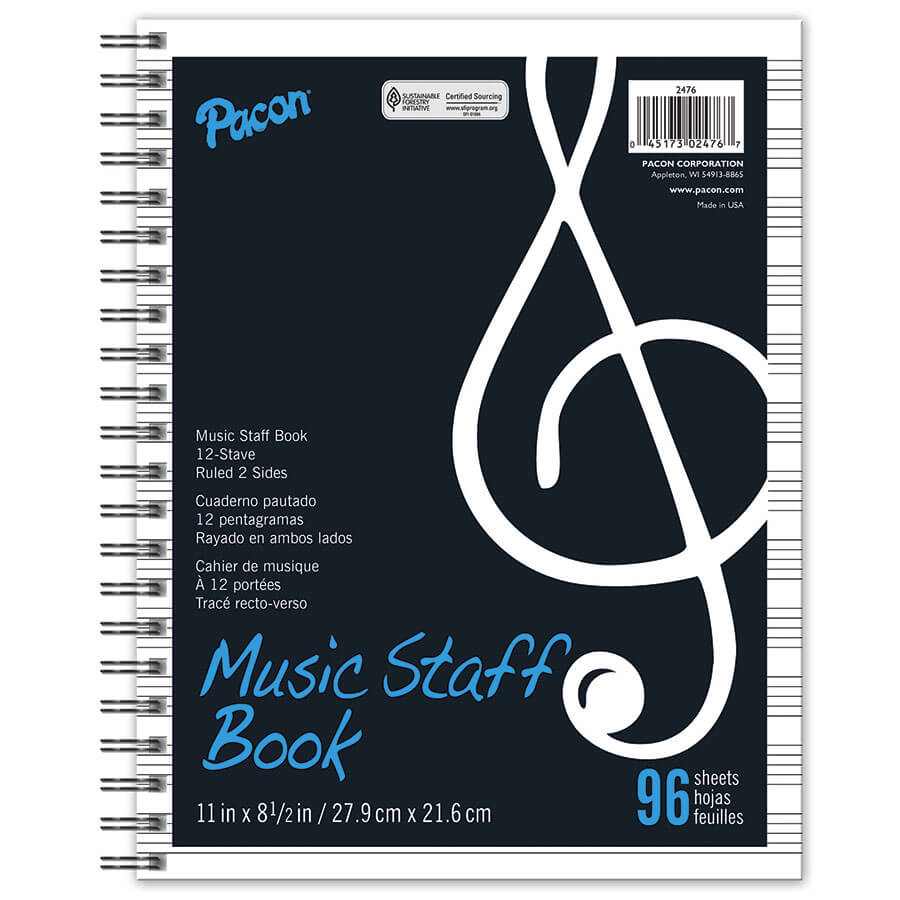Pacon® Music Staff Book