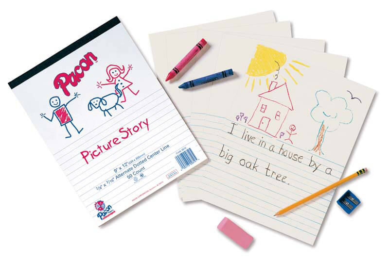 Pacon® Picture Story Ruled Newsprint Pad