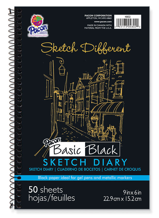 Pacon® Black Sketch Diary