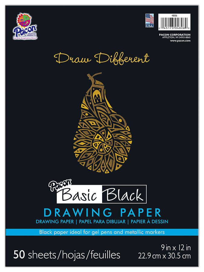 Pacon® Black Drawing Paper