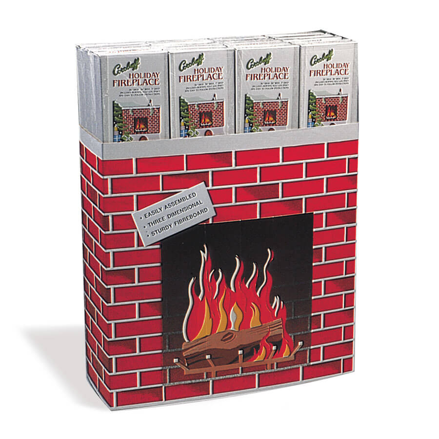 Corobuff® Corrugated Fireplace Display