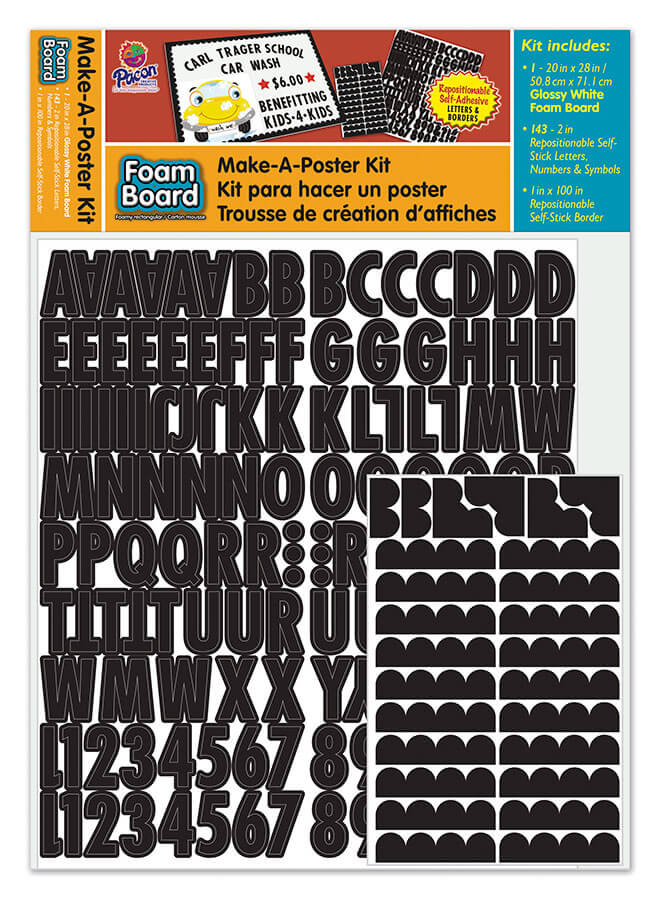 Pacon® Make-A-Poster Foam Board Kit