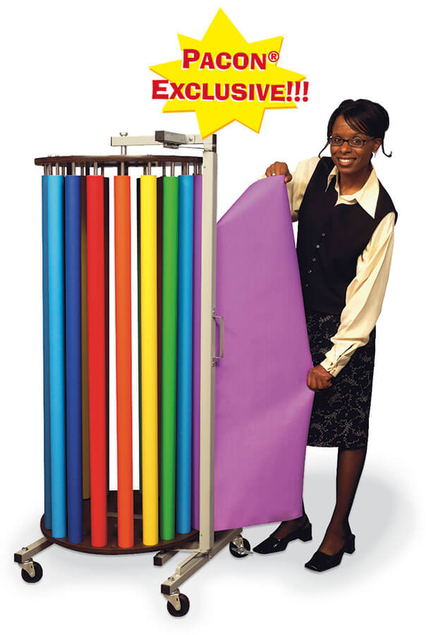 "Pacon® Rotary Rack with 20 Rolls of 48"" x 50' Fadeless® Paper"