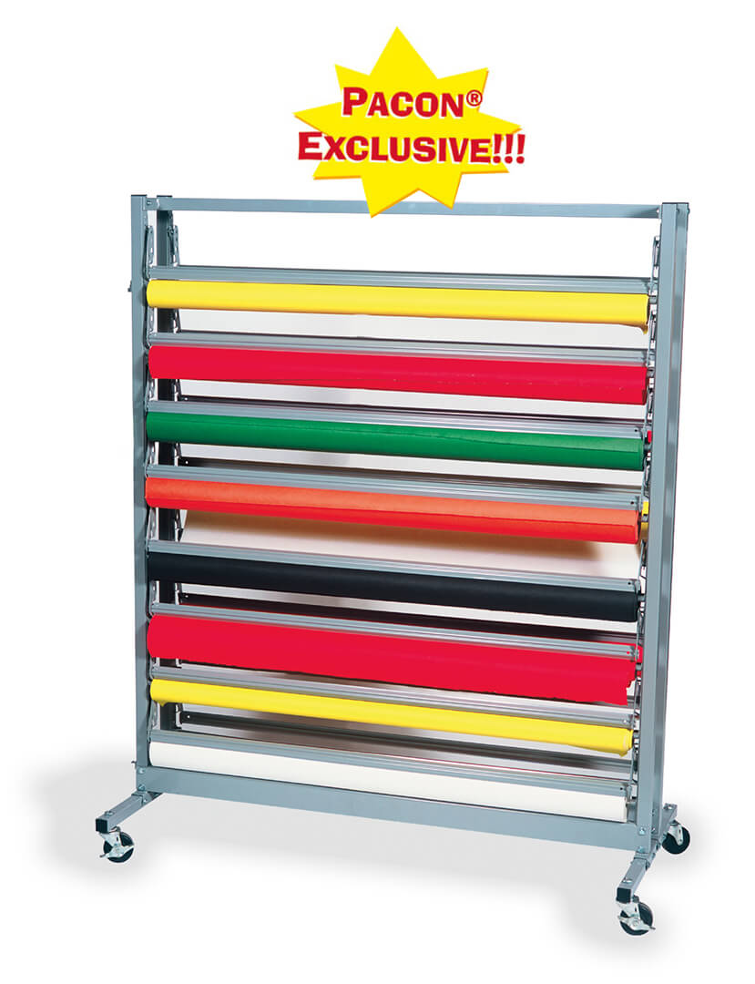 Pacon® Horizontal 16 Roll Rack