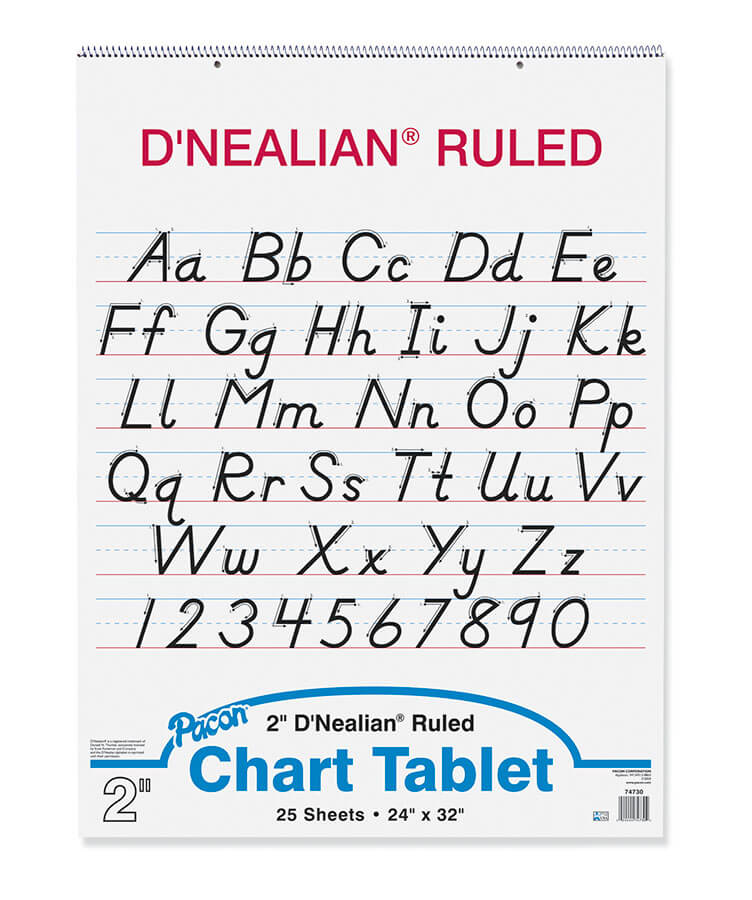 Pacon® D'Nealian™ Chart Tablet