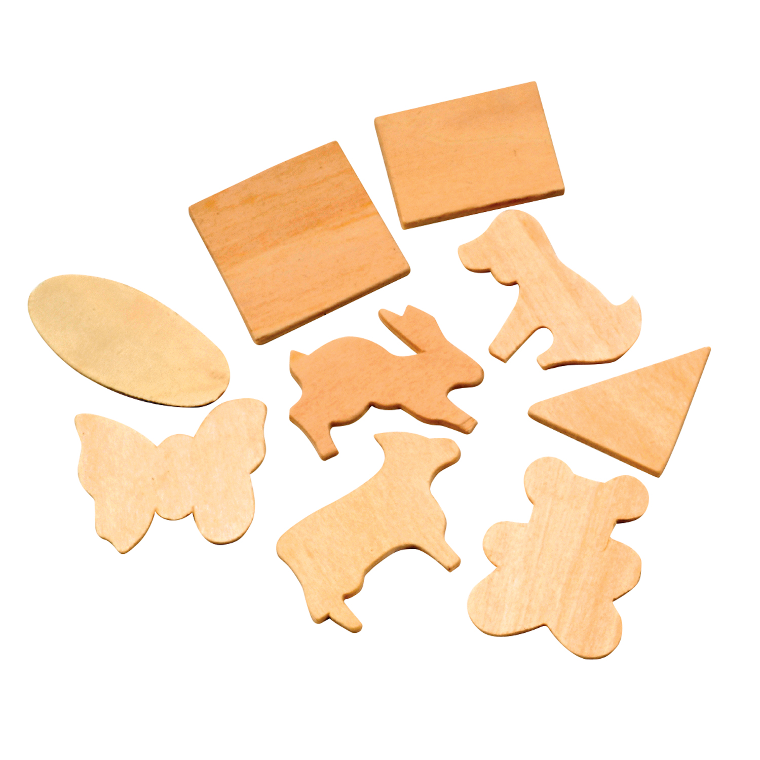 Creativity Street® Natural Wood Shapes- Animal & Geometric Assortment