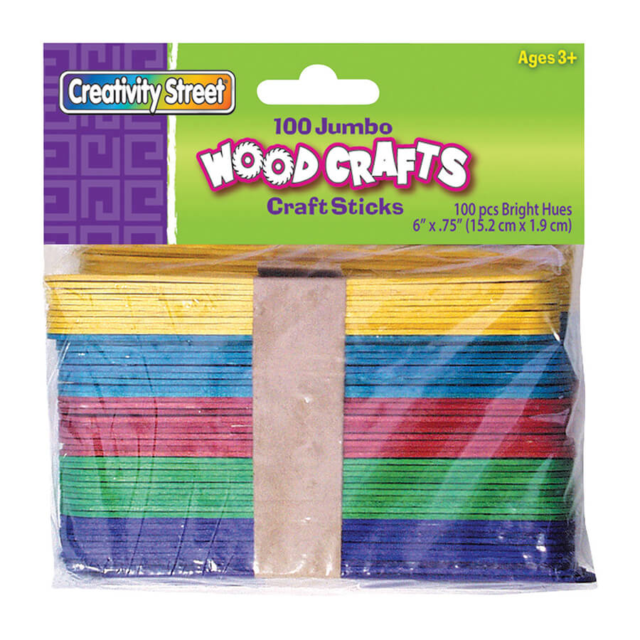 Creativity Street® Bright Hues Jumbo Craft Sticks