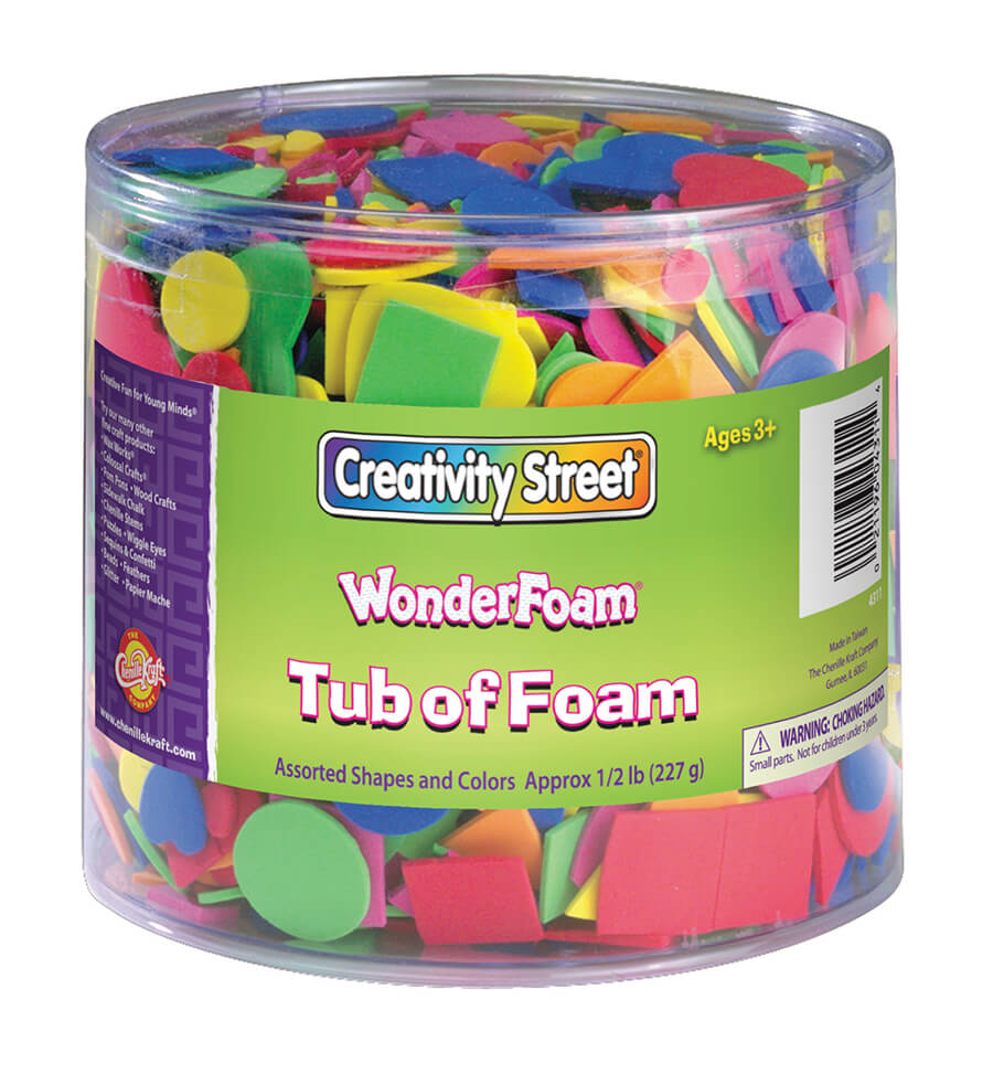 Creativity Street® WonderFoam® Tub of Foam Shapes