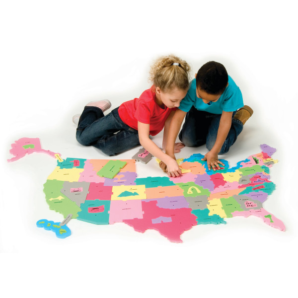 WonderFoam® Giant USA Puzzle Map