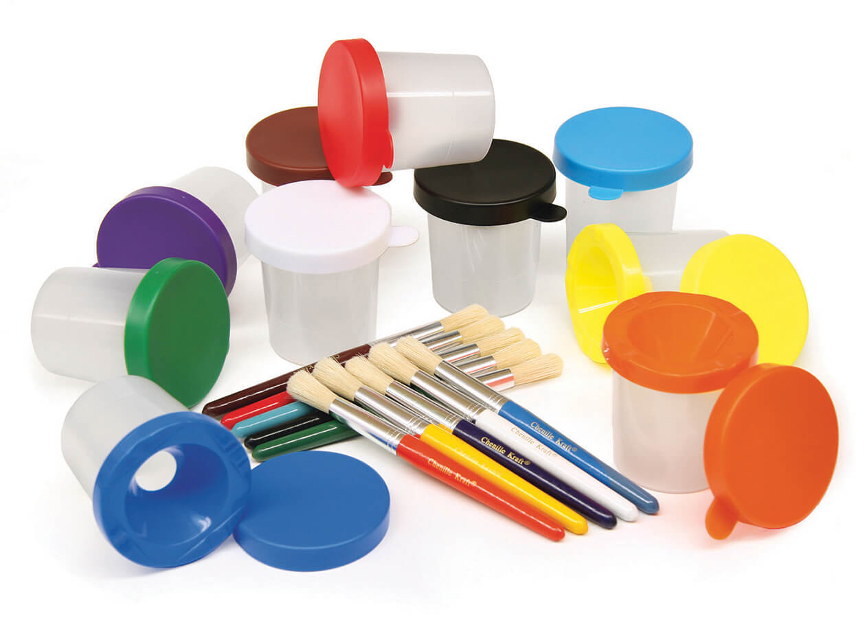 Creativity Street® Paint Cups & Brushes Set