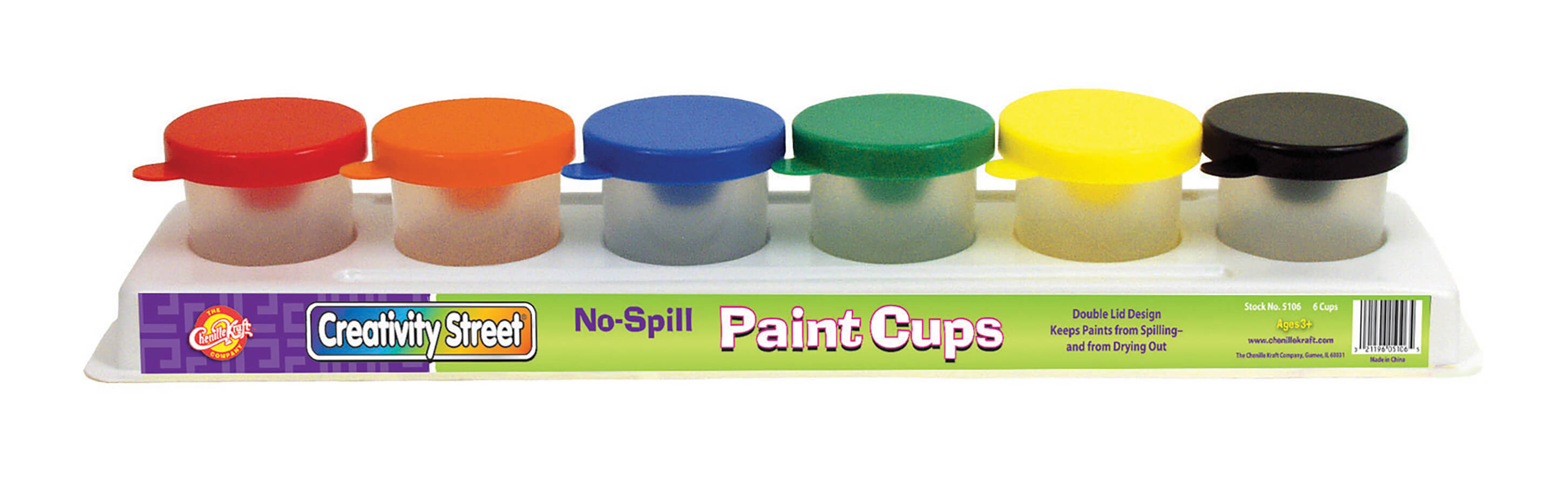 Creativity Street® No-Spill Paint Cups in Tray