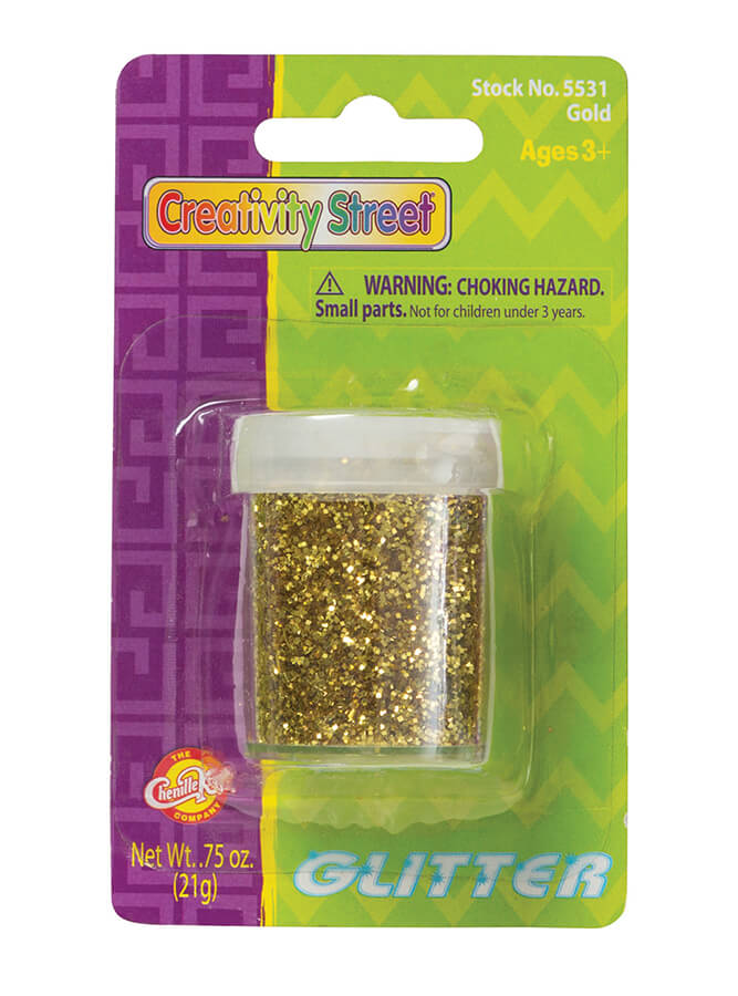 Creativity Street® Glitter on a Blister Card