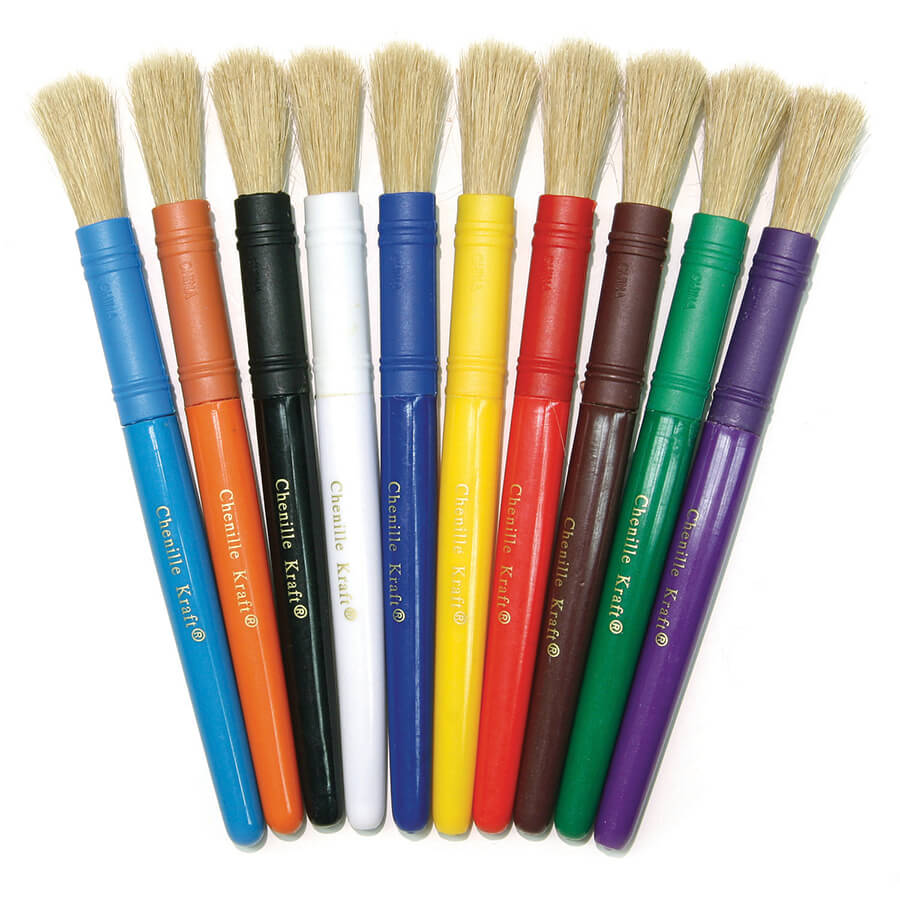 Creativity Street® Beginner Paint Brushes, Plastic Handle