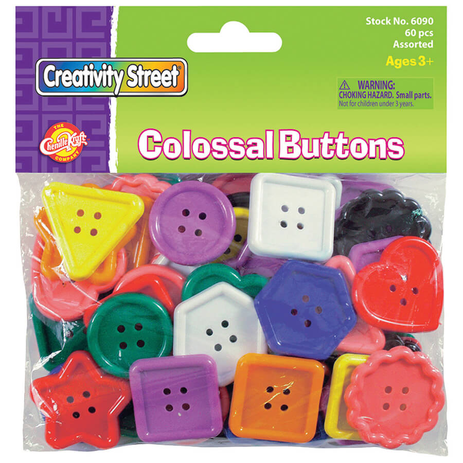 Creativity Street® Buttons, Colossal Size
