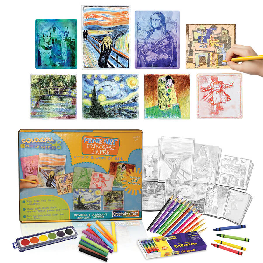 Creativity Street® Embossed Paper Fine Art Set