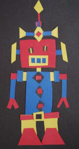 Primary Colors Quadrilateral Robot